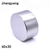 ZHANGYANG 1pcs Neodymium magnet 60x30 mm gallium metal new super strong round magnets 60*30 Neodimio magnet powerful permanent