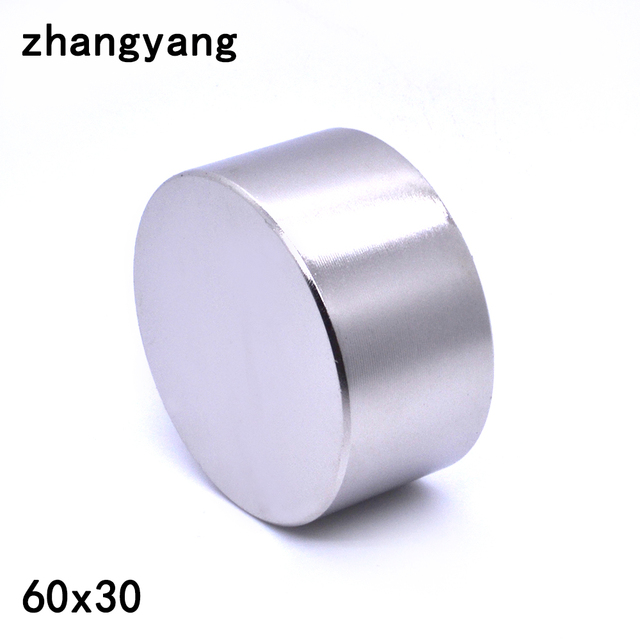 ZHANGYANG 1pcs magnete Al Neodimio 60x30mm gallio metallo new super forte rotonde magneti 60*30 Neodimio magnete potente permanente