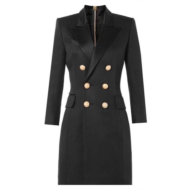 Women Blazers 2016 Spring Autumn Long Blazer Long Sleeve Office Blazer jacket Outwear  Golden Double Breasted Blazer Jacket Suit