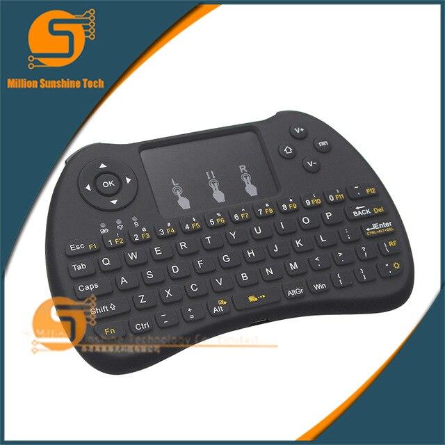 Analytisch Hintergrundbeleuchtung Mini Drahtlose Tastatur 2,4 Ghz Mit Touchpad Tastatur Maus Für Raspberry Pi 2 Mini Pc Smart Tv Android Tv Box