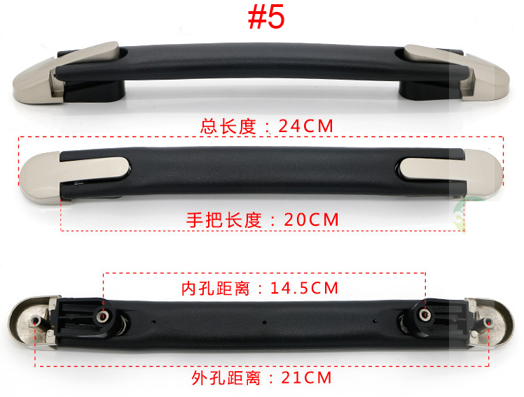 Top quality Luggage Handle Grip Spare Fix Holders Box Pull Carry Strap Luggage Repair Accessories Replacement Suitcase 7021-5