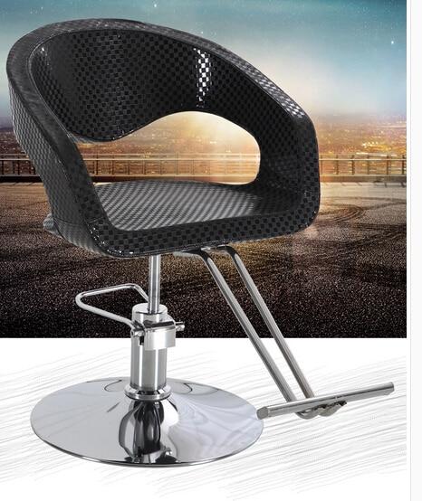The new hair salon hair salon shop fashion barber chair. Upscale stool haircut