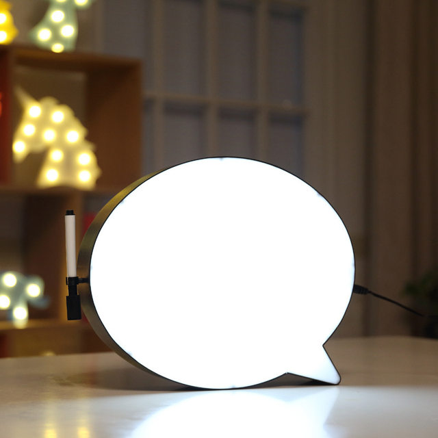 Online Shop Speech Bubble Light Box DIY Cinema Night Light Home Lighting  Dry Erase Board Lights Handwriting Message Led Lamp Great Gift | Aliexpress  Mobile