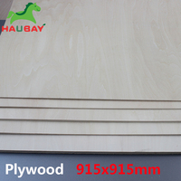 HAUBAY Basswood Plywood 915x915x1.5/2/3mm Wide Sheets Crafting Wooden for airplane handwork Festival Fabulous February Sale