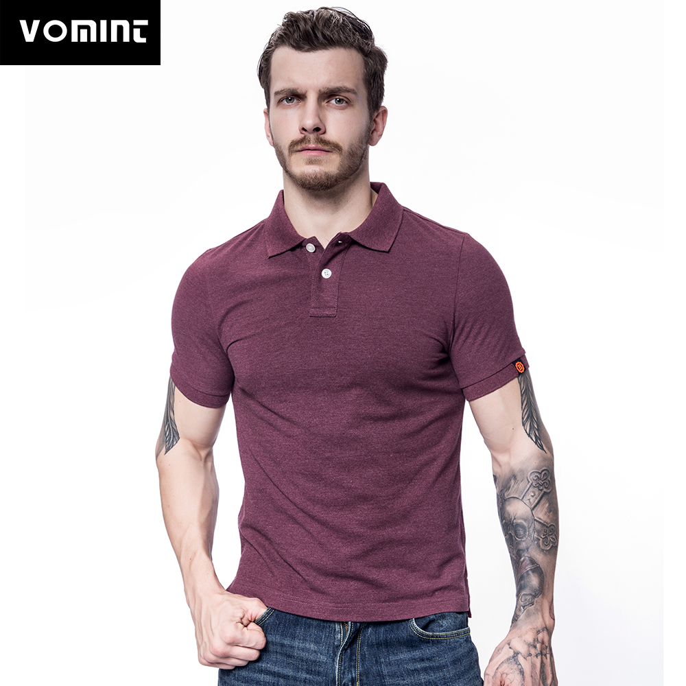 Vomint 2018 Summer Mens Cotton   Polo   Shirts Short Sleeve Solid Color Shirts Male High Quality   Polo   Breathable   Polo   Shirt M-3XL