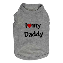 "Cute ""I Love My Mommy and Daddy"" Sphynx Ca t-shirt"