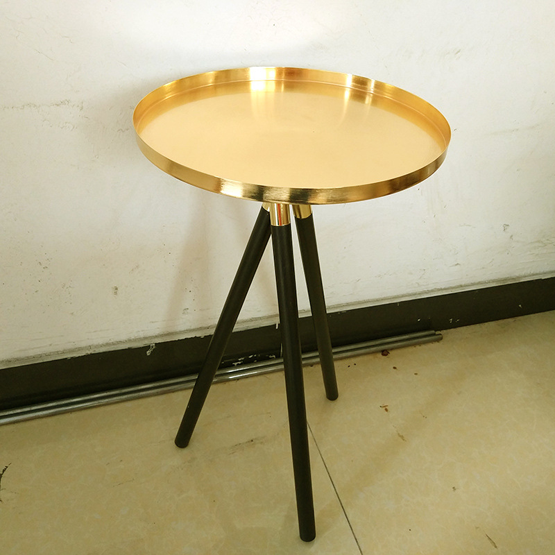 Home Wedding Mini Table For Dessert Cake Flower Decor Modern Minimalist Round Coffee Tea Table Sofa Side Bedroom Bedside Table