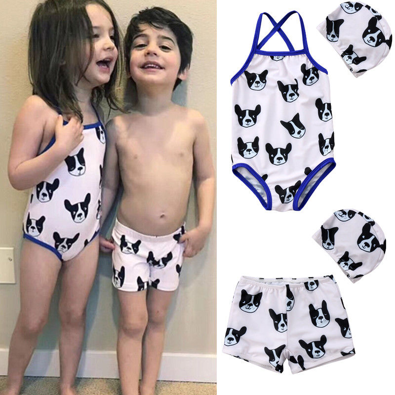 100% Quality Kids Baby Boys Stretch Beach Swimsuit Swimwear Trunks Shorts+hat Set Kid Children Swimming Suit Summer Outfit Home