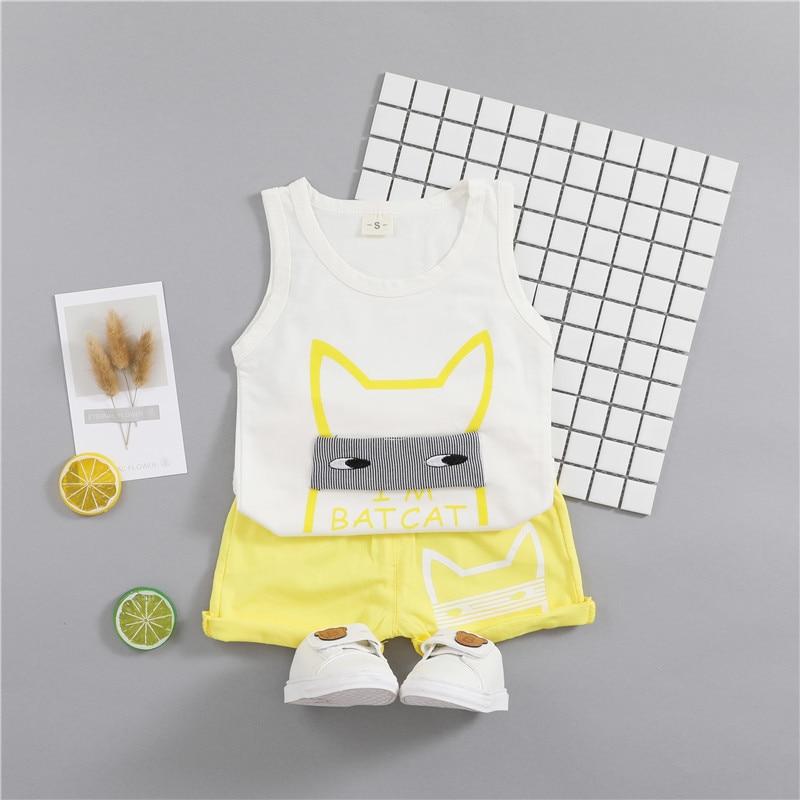 2018 Summer Baby Clothes Set Boy Batman Sleeveless T-shirt + Shorts Casual Cotton Suit Children Soft Outfits Sports Clothing Set