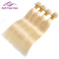 Мягкость волос 613 Бразильский прямо пучки волос плетение платины блондинка пучки натуральные волосы 4 Связки сделки Волосы remy расширения