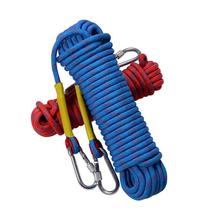 10&15M Rock Climbing Rope With 2 Piece Locking Buckles Safety Rope Outdoor Life Line Blue&Red Color Climbing Rope Safety Protect