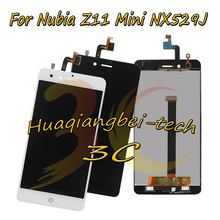 5.0 New For ZTE Nubia Z11 Mini NX529J Full LCD DIsplay + Touch Screen Digitizer Assembly Black / White 100% Tested + Tracking