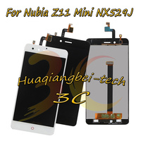 5.0'' New For ZTE Nubia Z11 Mini NX529J Full LCD DIsplay + Touch Screen Digitizer Assembly Black / White 100% Tested + Tracking