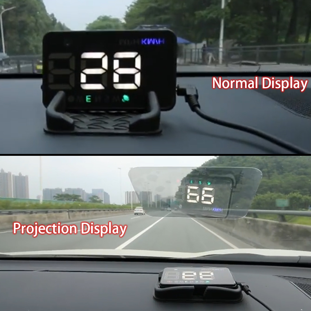 Image 3 - GEYIREN A5 Universal Car HUD GPS Satellite Head Up Display Overspeed Warning Voltage Alarm For All Car and Trucks-in Head-up Display from Automobiles & Motorcycles