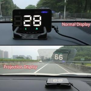 Image 2 - GEYIREN A5 العالمي سيارة هود غس الأقمار الصناعية رئيس متابعة عرض السرعة الزائدة تحذير الجهد إنذار لجميع السيارات والشاحنات
