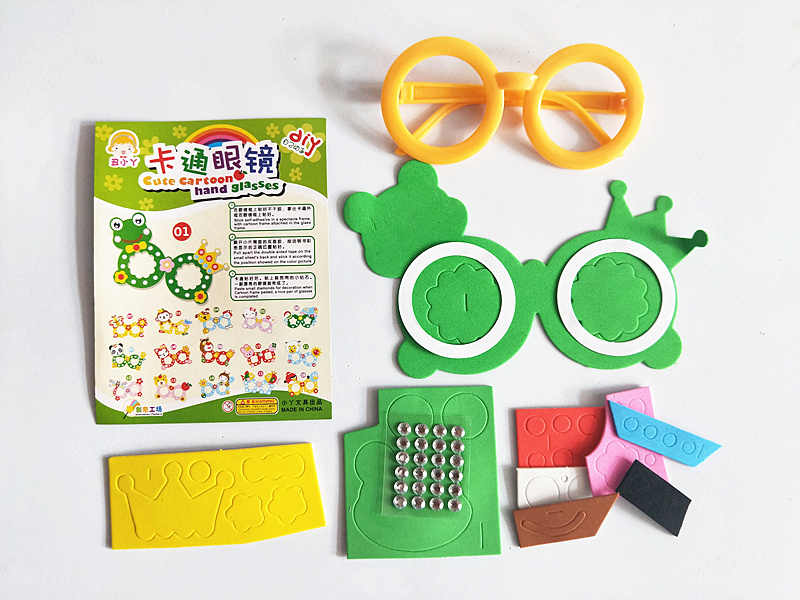 Happyxuan 8 дизайнов/Партия Детские DIY художественные наборы для ремесла набор наклейки из вспененного этилвинилацетата детский сад креативная обучающая игрушка ручной работы подарок для девочек