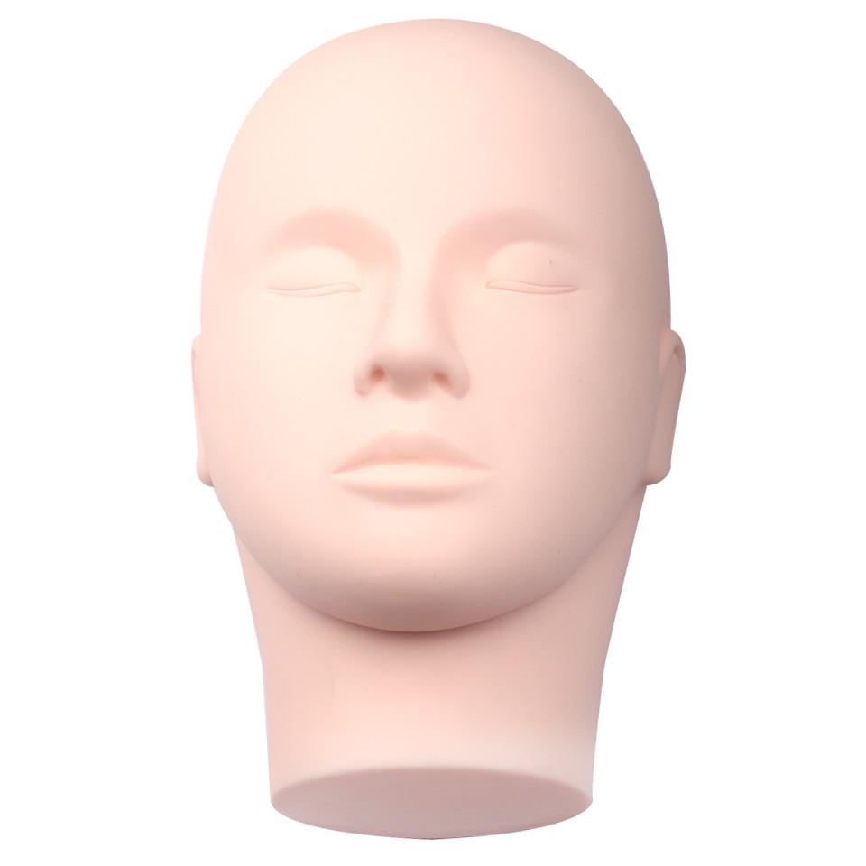 Pro Training Mannequin Flachkopf Praxis Make-Up Wimpern Wimpernverlängerung, Praxis-trainings-leiter Puppe Kosmetologie Manne
