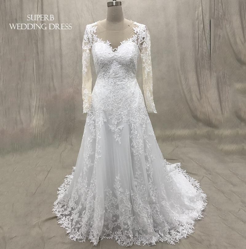 Wedding Dress 2019 With Sleeves Bridal Gown Dresses For Bride Custom Made To Order Superbweddingdress