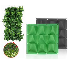 Wall Hanging Planting Bags 9/ Pockets Green Grow Bag Planter Vertical Garden Vegetable Living Home Supplies 50x50cm