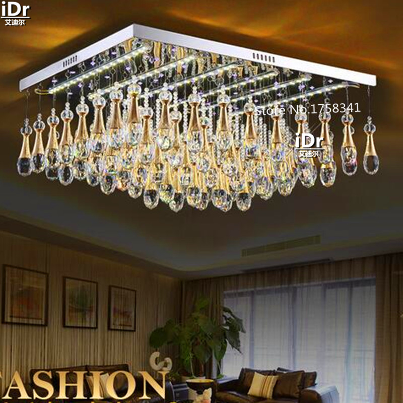 Modern lighting fixtures ceiling lights flat crystal lamp led modern lighting fixtures ceiling lights flat crystal lamp led light square living room bedroom den quality guarantee in ceiling lights from lights aloadofball