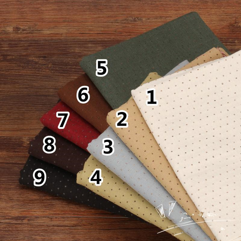 50*140cm Thick Soft Basic Patchwork Japanese Yarn Dyed Cotton Fabric for Sew Quilt Pattern Fabrics Sew Tissu Tilda