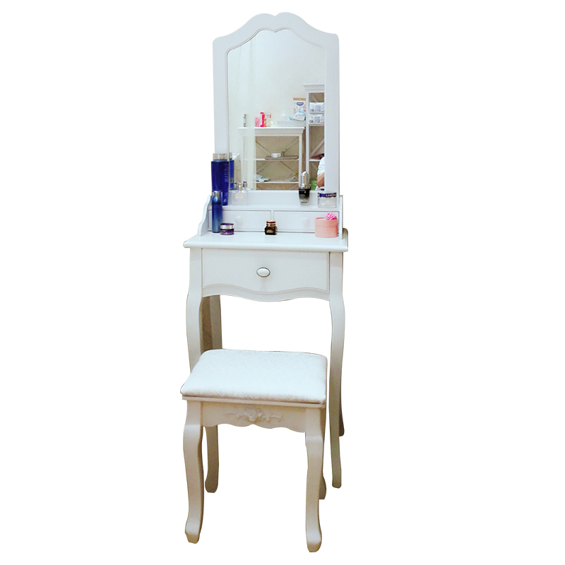 Para El Dormitorio Aparador Camera Da Letto Slaapkamer Set European Wooden Quarto Korean Bedroom Furniture Dressing Table wooden dressing table makeup desk with stool oval rotation mirror 5 drawers white bedroom furniture dropshipping