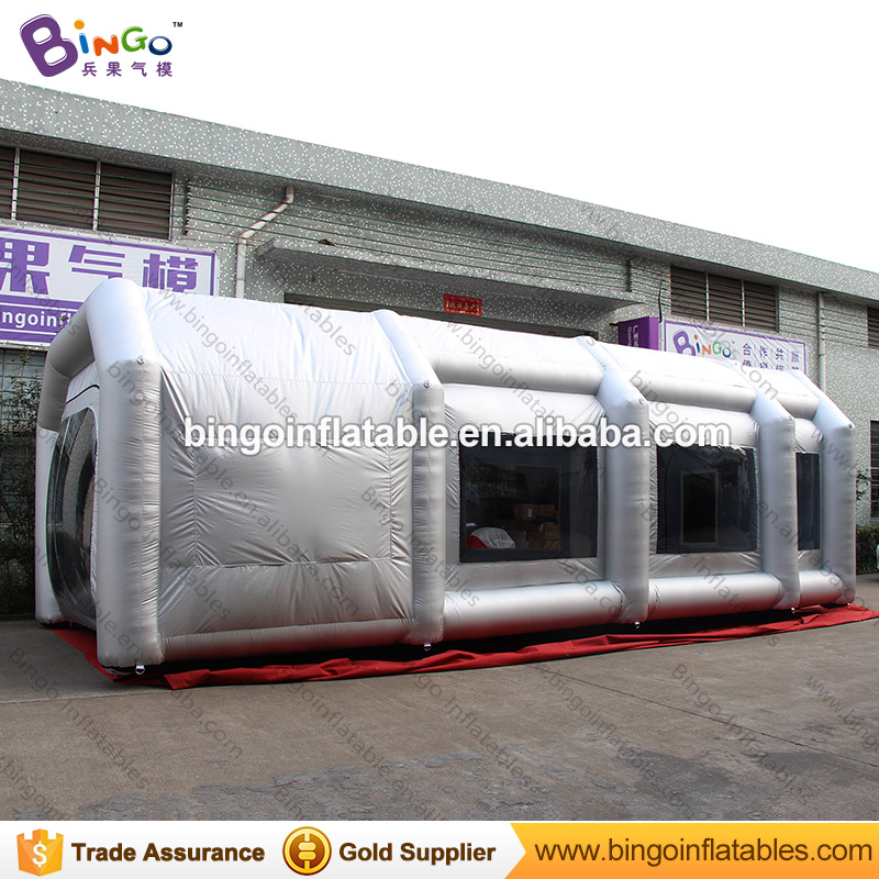 все цены на Free Shipping Inflatable Dust Proof Booth with light silver High Quality 29.5X13X10 blow up spray paint tent toy tents онлайн