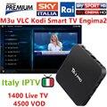 12 meses IPTV Caja Androide Kodi TX3 pro 1400 + tv en vivo con 5000 canales de VOD italia cielo que Mediaset premium Italiano Alemania