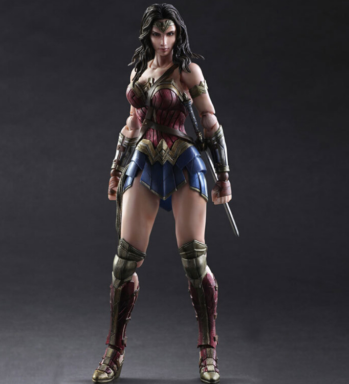 Wonder Woman Action Figure Play Arts Kai PVC Figure Toy 250MM Anime Movie Dawn of Justice Model Batman v Superman Playarts PA15 xinduplan dc comics play arts kai justice league batman reloading dawn justice action figure toys 25cm collection model 0637