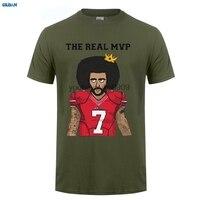 Gildan الحقيقية mvp كولن kaepernick مضحك قمصان الرجال 7 الأزياء القمصان لل 49ers المشجعين