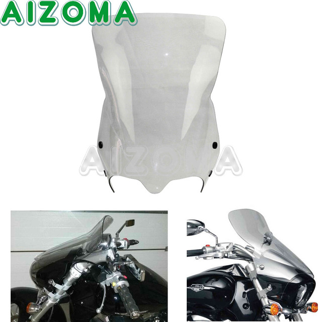 Motorcycle Windshield Protection W Bracket Wind Deflector For 2006 2016 Suzuki Boulevard M50 M90 M109R M109R2 Smoke WindScreen