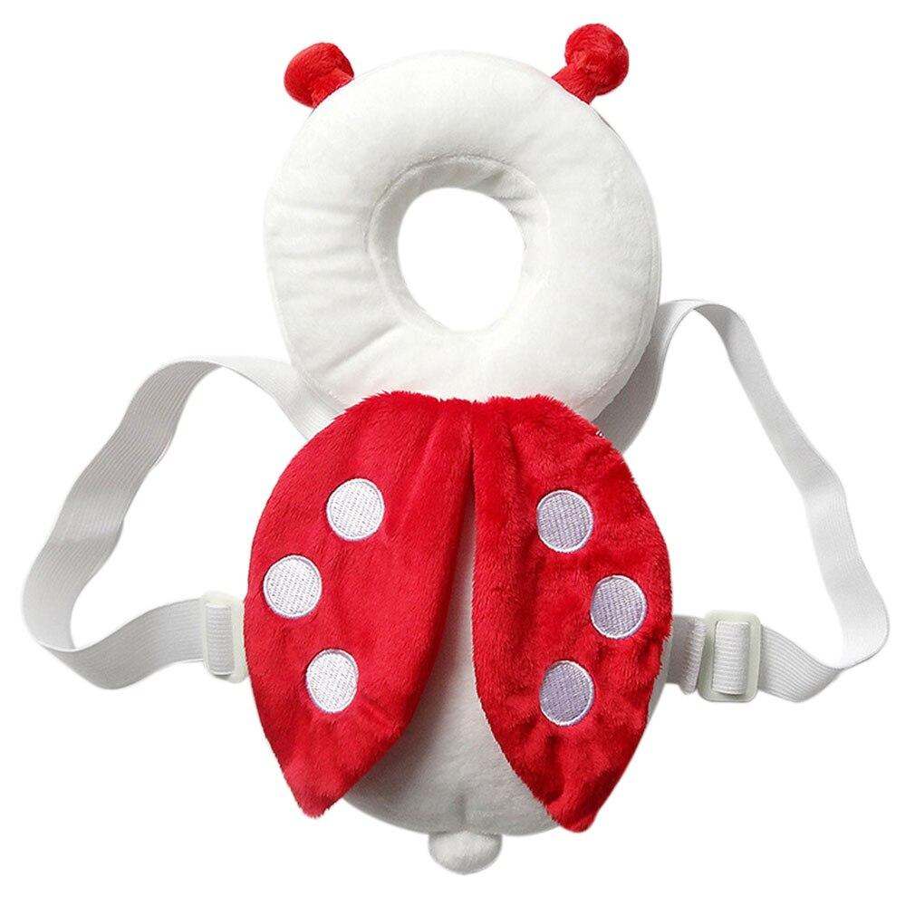 100% कपास बेबी सिर संरक्षण पैड हेडरेस्ट तकिया गर्दन पंख नर्सिंग ड्रॉप प्रतिरोध तकिया मधुमक्खी गुबरैला बैग तकिया