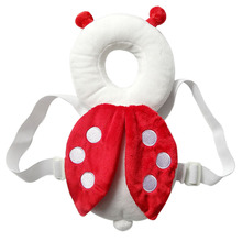100% Cotton Baby Head protection pad headrest pillow neck wings nursing drop resistance cushion bee ladybug backpack pillowcase