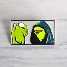 2019 Cartoon Kermit the Frog Enamel pin Muppet Show frog brooch Bag Clothes Lapel Pin Button Badge Jewelry Gift for friends kids(China)