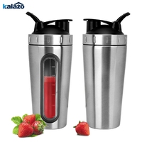 700ml thick stainless steel protein powder shake cup with transparent window sports fitness portable cup