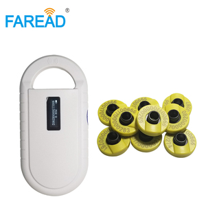 Image 5 - vets Rechargeable battery power USB FDX B ID64 ear tag small mini RFID pets scanner for dog cat ID animal microchip reader