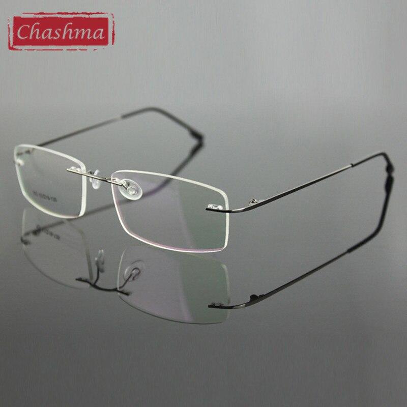 7995cc419e Chashma Rimless Titanium Alloy Ultra Light Weight Myopia Glasses Frame  Optical Eye Glasses For Men