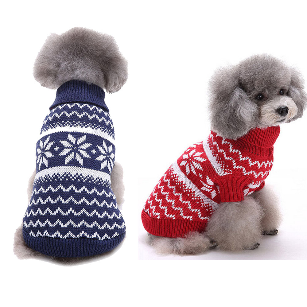 Christmas Sweaters For Dogs.Pet Dog Christmas Sweater Autumn Winter Warm Pullover S Xl Snowflake Fashion Knitted New Year S Costume Small Medium Big F1124