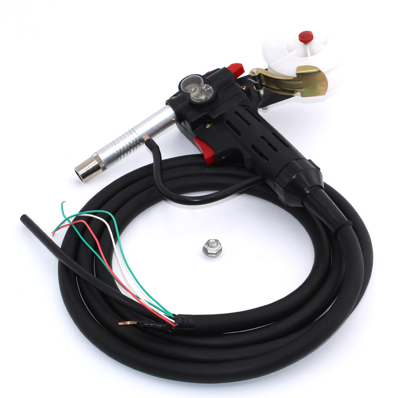 MIG welder 3M Cable Spool Gun Push Pull Feeder Aluminum copper or stainless steel DC 24V Motor Wire 0.6-1.2mm Welding Gun mig wire feeder motor 76zy02a dc24v 18m min for mig welding machine