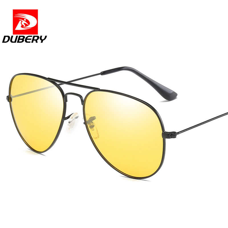 a9b41e7995 ... DUBERY Brand Classic Pilot Polarized Sunglasses Men s Designer HD  Goggle Night Vision Glasses UV400 TAC Eyewear ...