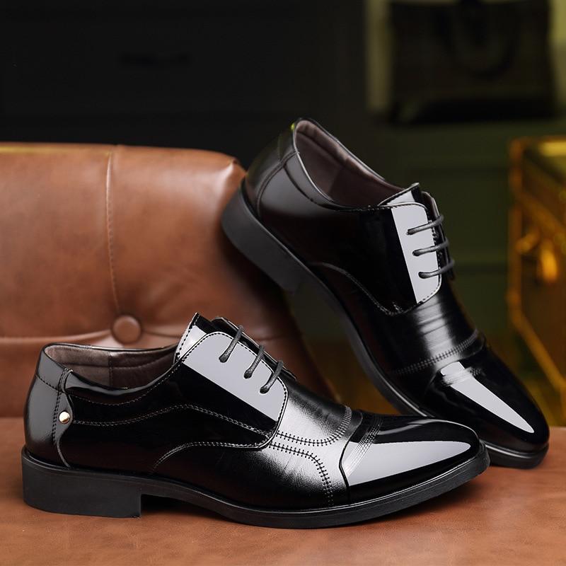 Doux De 589 Mode Printemps Véritable Appartements Cuir D'affaires Noir Oxford En marron Zip Chaussures Haute Hommes Nouveau Qualité Casual Respirant z7pqx