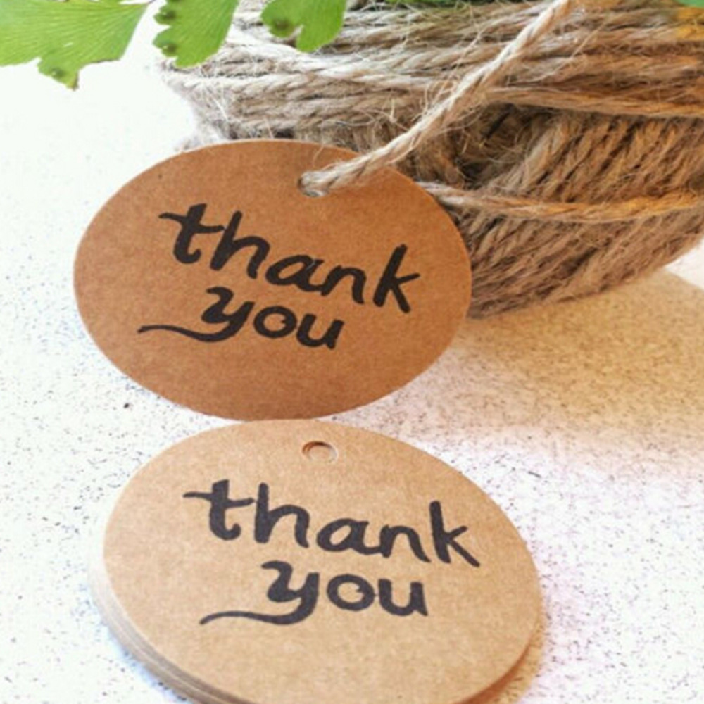 Thank You For Wedding Gift: Thank You Tag For Candy Gift Box Decoracion Vintage