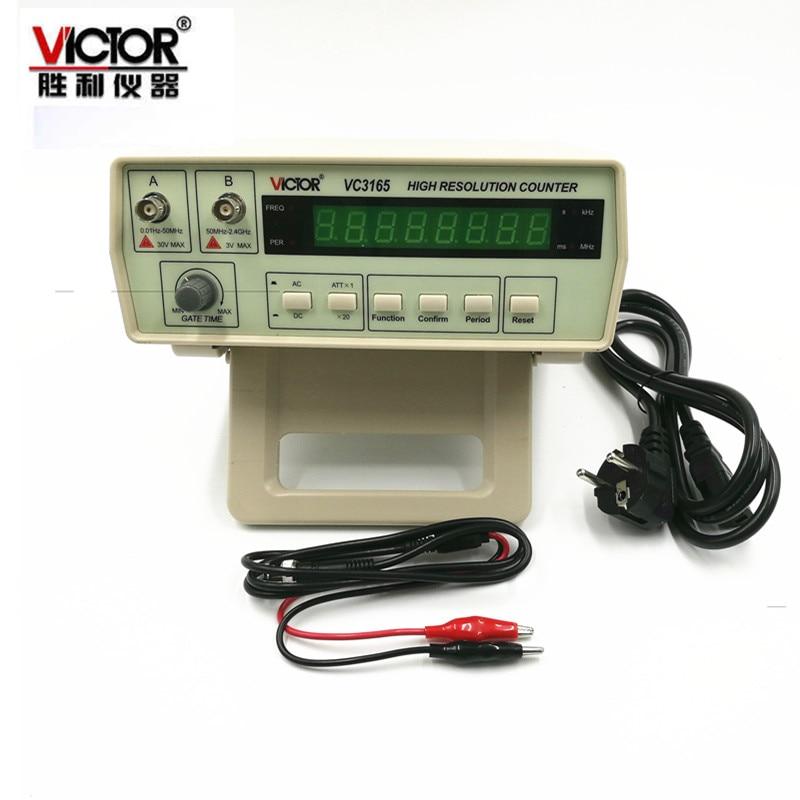 110 В/220 В Новый стиль Одежда высшего качества 0,01 Гц-2,4 ГГц точность частотомер VC3165