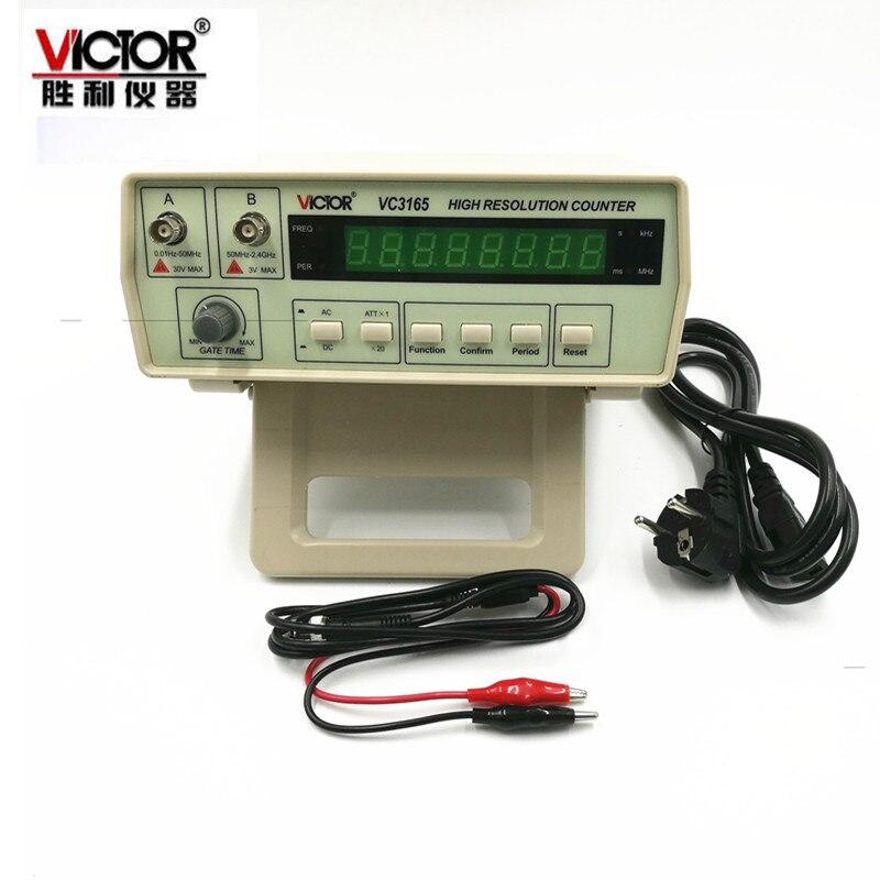 Medidor de frecuencia de contador de frecuencia de precisión de 0,01Hz-2,4 GHz 2 canales de entrada AC/DC acoplamiento de 8 dígitos