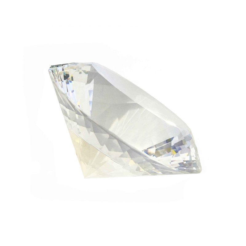 Multifaceted High Quality Clear Crystal Diamond Paperweight 150mm 1pcs For Gifts Free Shipping все цены