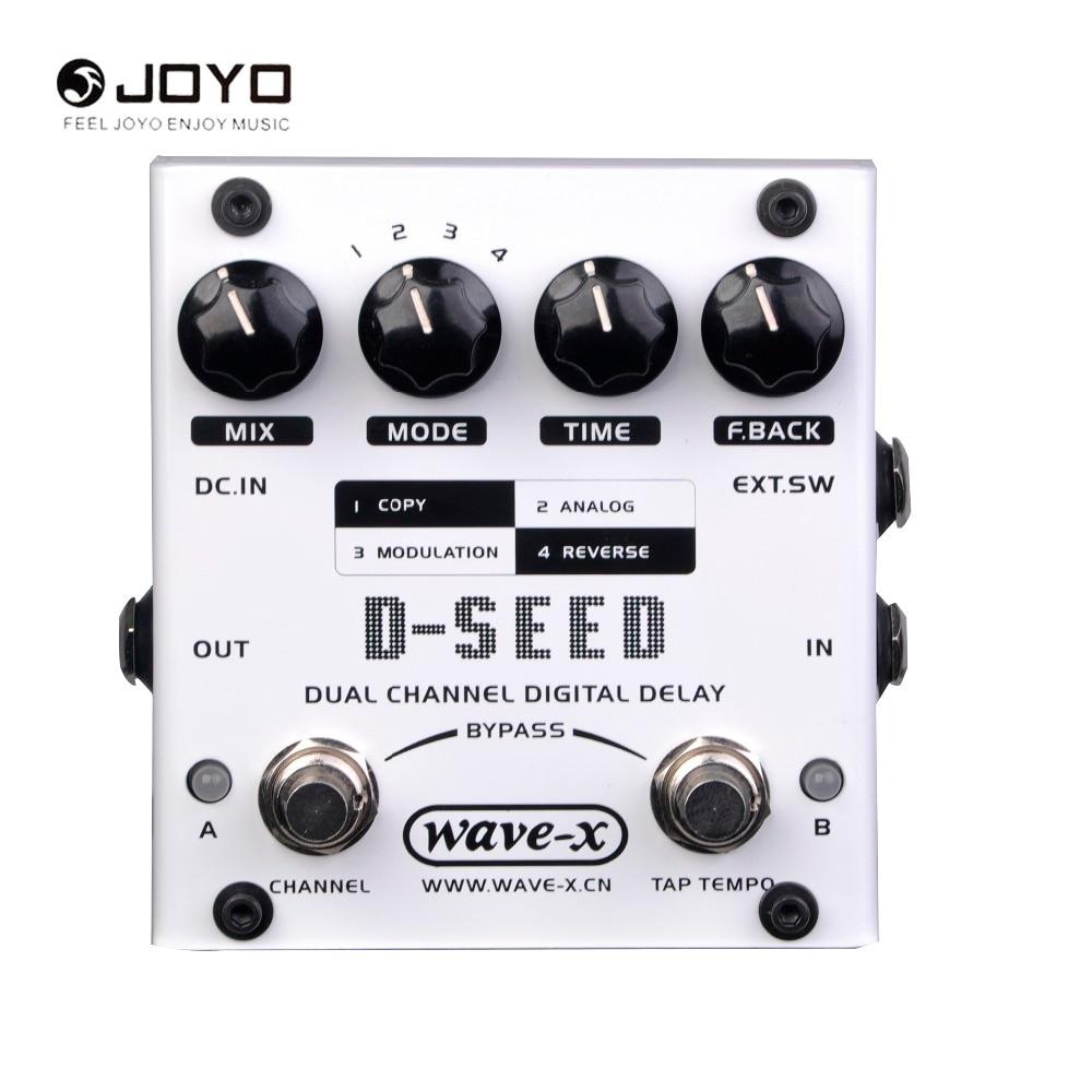 JOYO D-SEED Dual Channel Digital Delay  Guitar Effect Pedal Effects Guitarra Stompbox True Bypass педаль reverb delay strymon dig dual digital delay