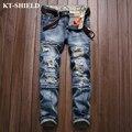 Men's Denim Jeans High quality Brand Fashion Jeans Trousers Biker Distressed Jeans Pants 100% Cotton Ripped Men Vaqueros hombre