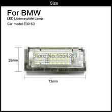 2 pcs Branco 6000 k Erro Livre O Número de LED License Plate Luz fit Para BMW E39 5D 5 Portas Wagon touring