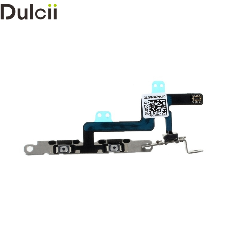 Dulcii Mobile Phone Parts for iPhone 6 4.7-inch OEM Volume Button Flex Cable with Metal Plate i6 for iPhone 6 4.7 inch