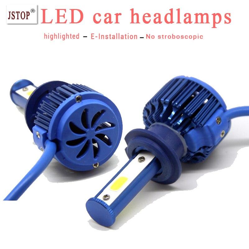 2pcs set 2800LM headlamps 30W canbus light h1 H4 auto bulbs COB led headlamp Exterior Lights